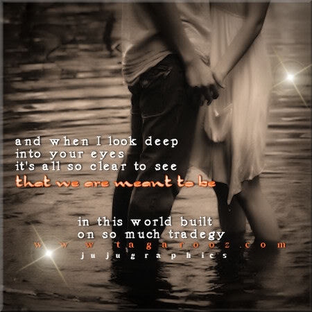 when i look into your eyes When i look into your eyes, it's like falling in love all over again  falling in love is when she falls asleep in your arms and wakes up in your dreams anonymous.