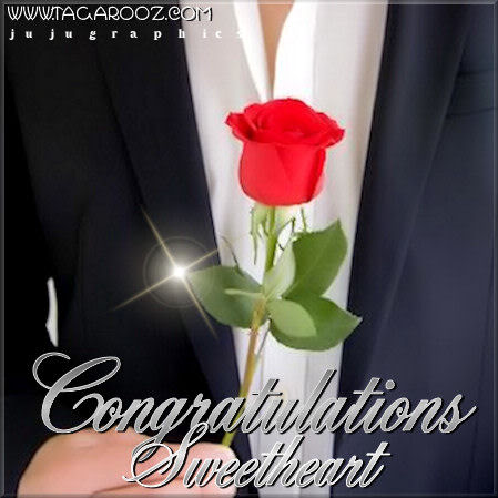 Congratulations sweetheart
