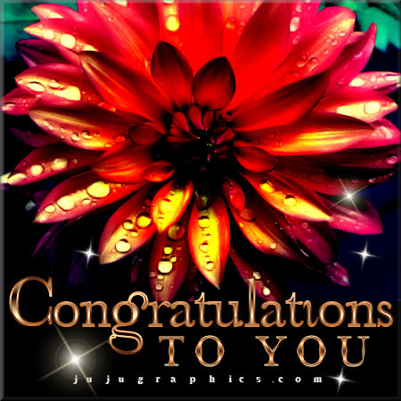 Congratulations to you