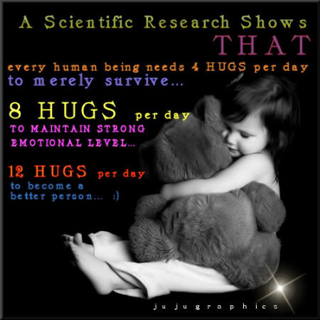 Every human being needs 4 hugs per day