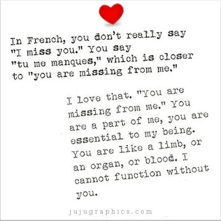 how to say you are mine in french