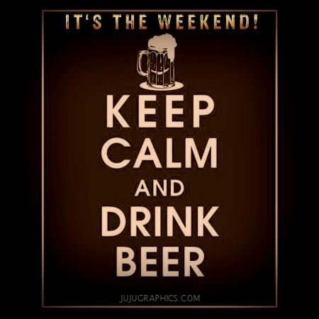 Its the Weekend keep calm and drink beer