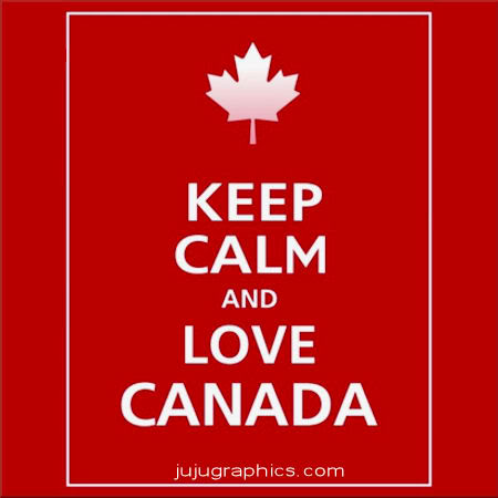 Keep Calm and love Canada Copy
