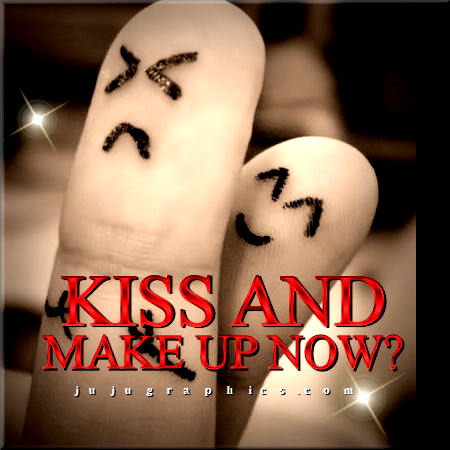 Kiss and make up now