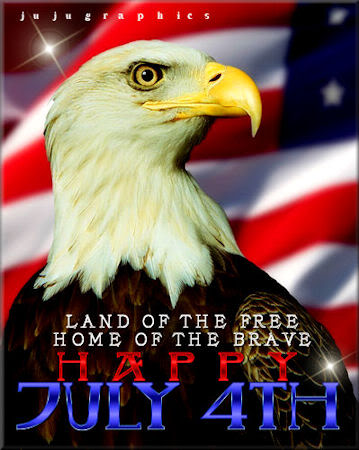 Land of the free home of the brave Happy July 4th