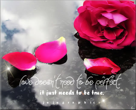 Love doesnt need to be perfect