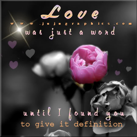 Love was just a word until I found you