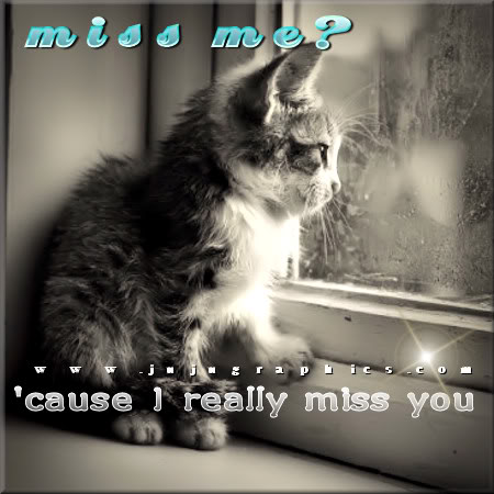 Miss me cause I really miss you