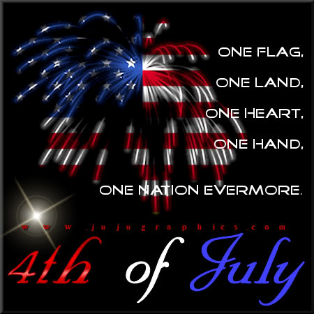 One flag one land one heart one hand one nation evermore 4th of July