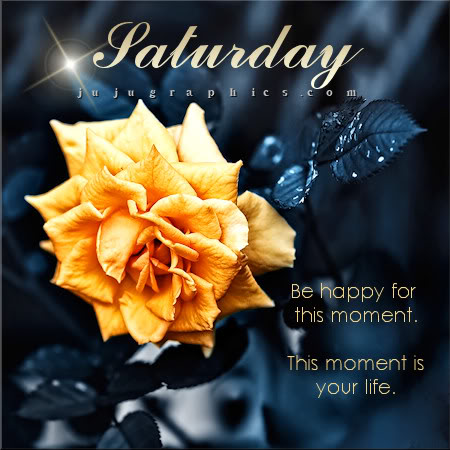 Saturday be happy for this moment