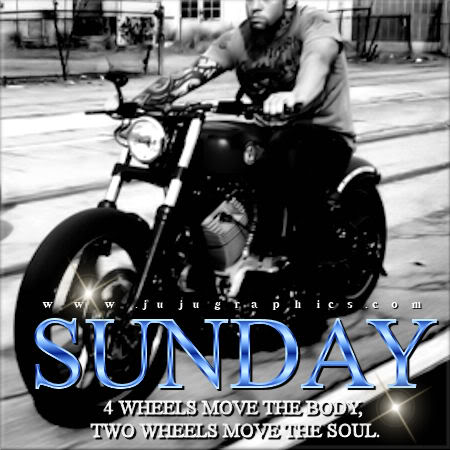 Sunday 4 wheels move the body 2 wheels move the soul
