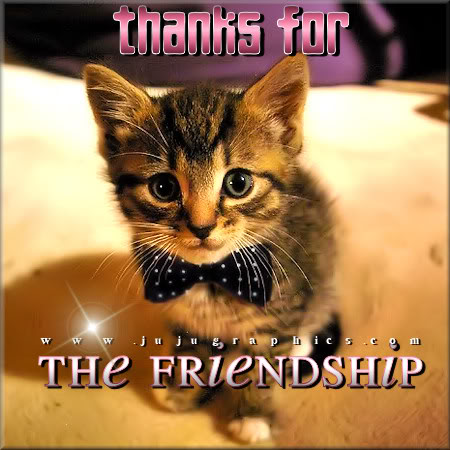 Thanks for the friendship