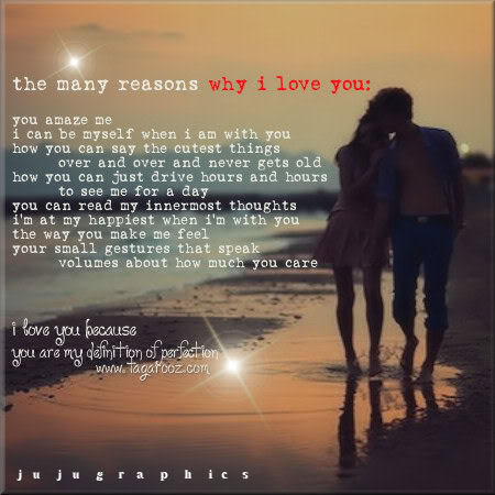 The many reasons why I love you