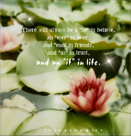 There will always be a lie in believe
