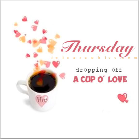 Thursday dropping off a cup o love