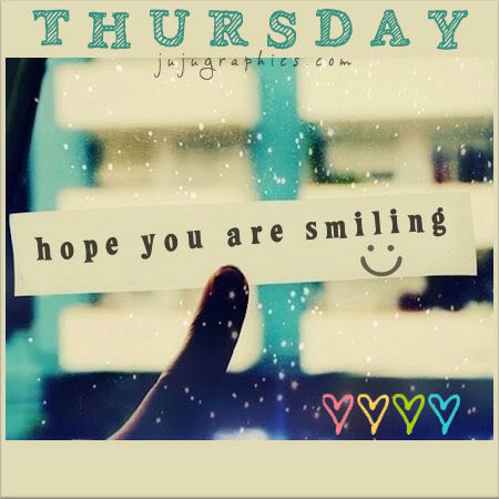 Thursday hope you are smiling