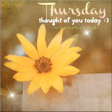 Thursday thought of you today