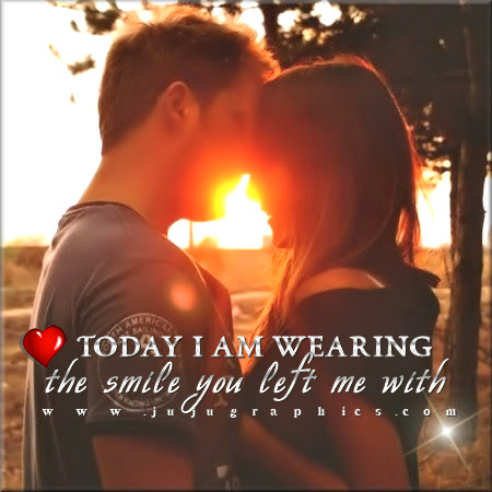 Today I am wearing the smile you left with me