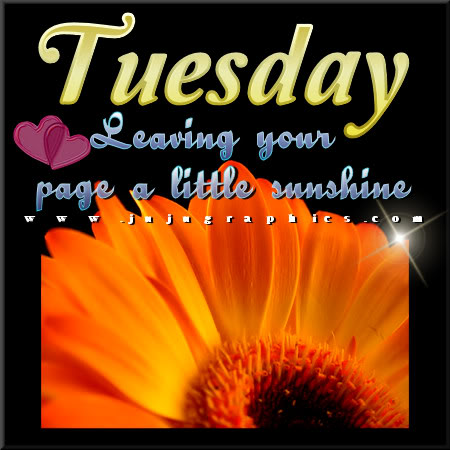 Tuesday leaving your page a little sunshine