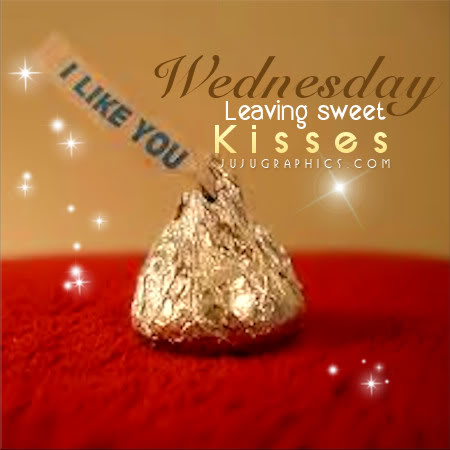 Wednesday leaving sweet kisses