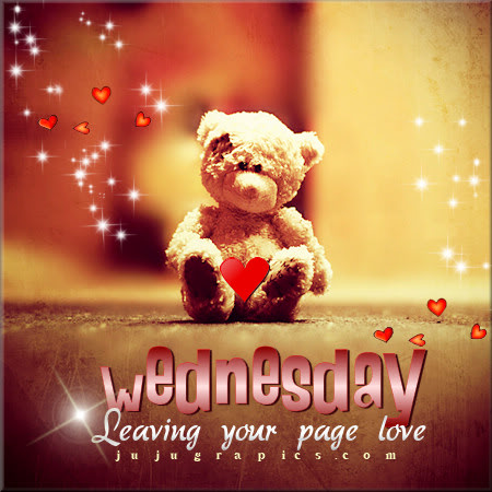 Wednesday leaving your page love