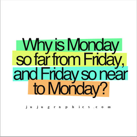 Why is Monday so far from Friday and Friday so near Monday