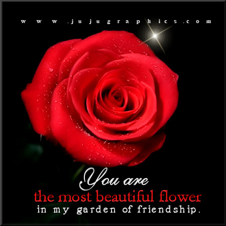 You are the most beautiful flower in my garden of friendship