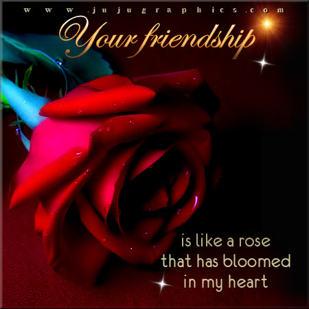 Your friendship is like a rose