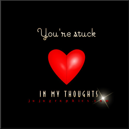 Youre sstuck in my thoughts