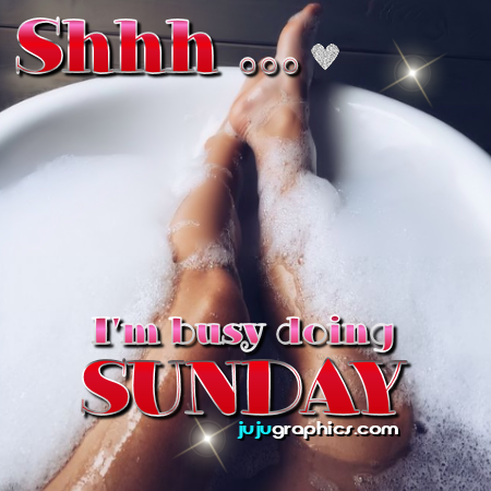 Shhh I'm busy doing Sunday | Sunday comments and graphics - Tagarooz.com