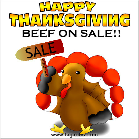 Happy Thanksgiving Beef on Sale
