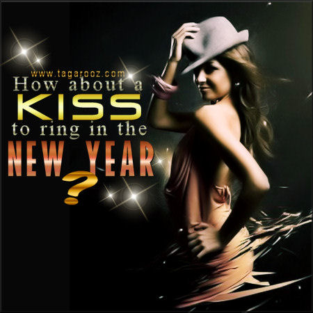 How about a kiss to ring in the new year