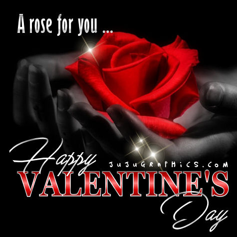 A rose for you Happy Valentine's Day | Jujugraphics.com