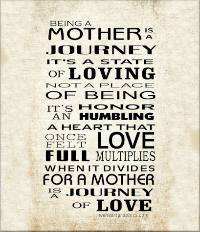 Being a Mother is a Journey