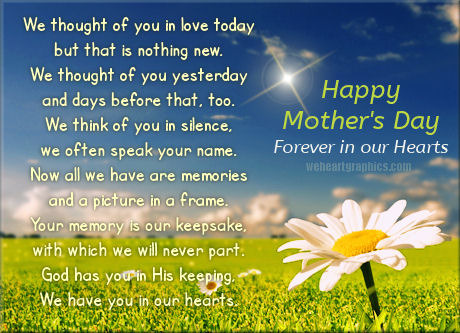 Happy Mothers Day Forever In Our Hearts