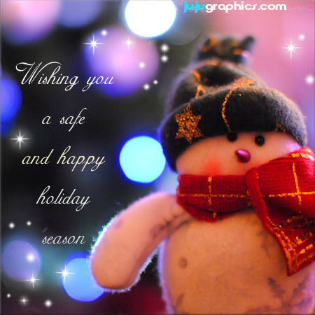 christmas wishing you a safe and happy holiday season