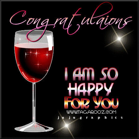 Congratulations I am so happy for you - Graphics, quotes ...
