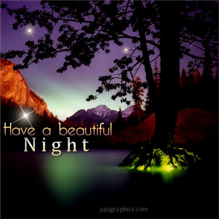 Have a beautiful night...