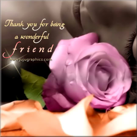 Thank you for being a wonderful friend - Graphics, quotes