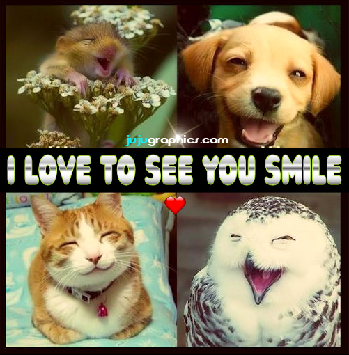 I love to see you smil...